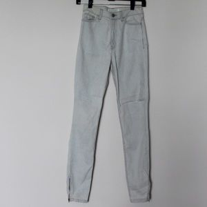 AMERICAN APPAREL Pinstripe Denim Skinnies